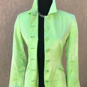 Lime green shiny crazy jacket